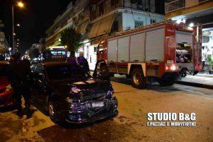 Καραμπόλα τεσσάρων αυτοκινήτων στο Ναύπλιο [vid]