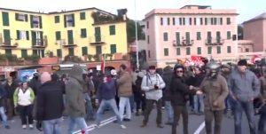 Γένοβα: Συμπλοκές σε διαμαρτυρία για ακροδεξιά κόμματα [vid]
