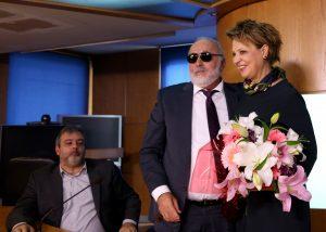 Yπ. Διοικητικής Μεταρρύθμισης: Υποδοχή Κουρουμπλή σε Γεροβασίλη με ανθοδέσμη [pics]