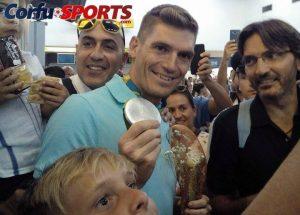 Σπύρος Γιαννιώτης: Θερμή υποδοχή στην Κέρκυρα στον ασημένιο Ολυμπιονίκη [pics]