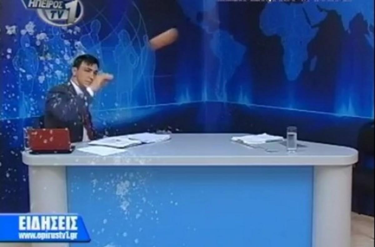 Το γύρο του κόσμου κάνει ο Έλληνας παρουσιαστής που τον γιαούρτωσαν live – ΒΙΝΤΕΟ | Newsit.gr