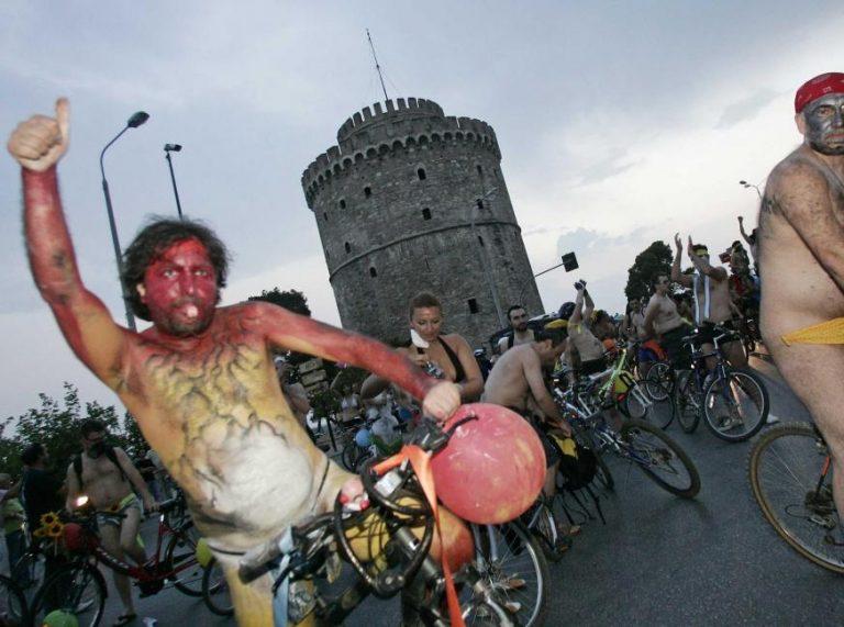 Γυμνοί ποδηλάτες στο κέντρο της Θεσσαλονίκης!   Newsit.gr
