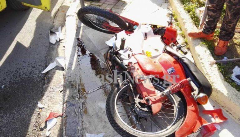 Χανιά: Τροχαίο ατύχημα με μηχανάκια – Στο νοσοκομείο οι οδηγοί μετά τη σύγκρουση [pics] | Newsit.gr