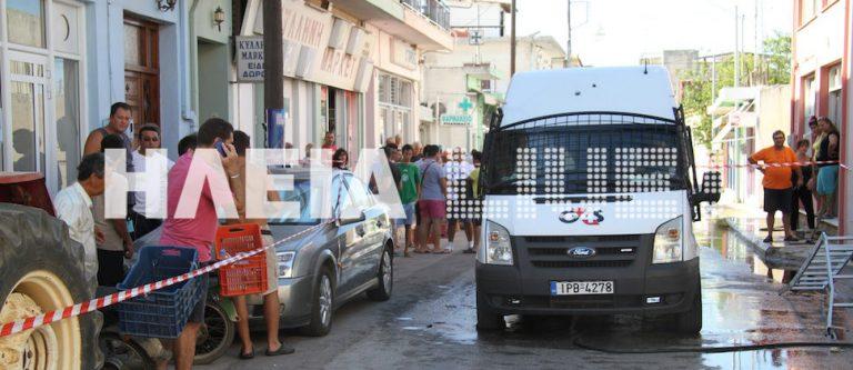 Σκηνικό τρόμου στην Κυλλήνη – Ληστές ανέβηκαν στην οροφή βαν χρηματαποστολής πυροβολώντας! Φωτό και Video   Newsit.gr