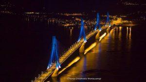 Πετώντας πάνω από τη γέφυρα Ρίου – Αντιρρίου – Μαγευτικό βίντεο