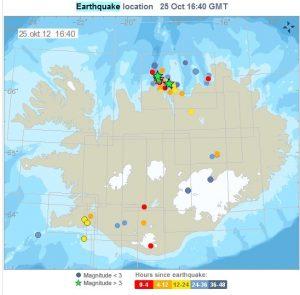 Η σεισμική δραστηριότητα στην Ισλανδία το τελευταίο 48ωρο