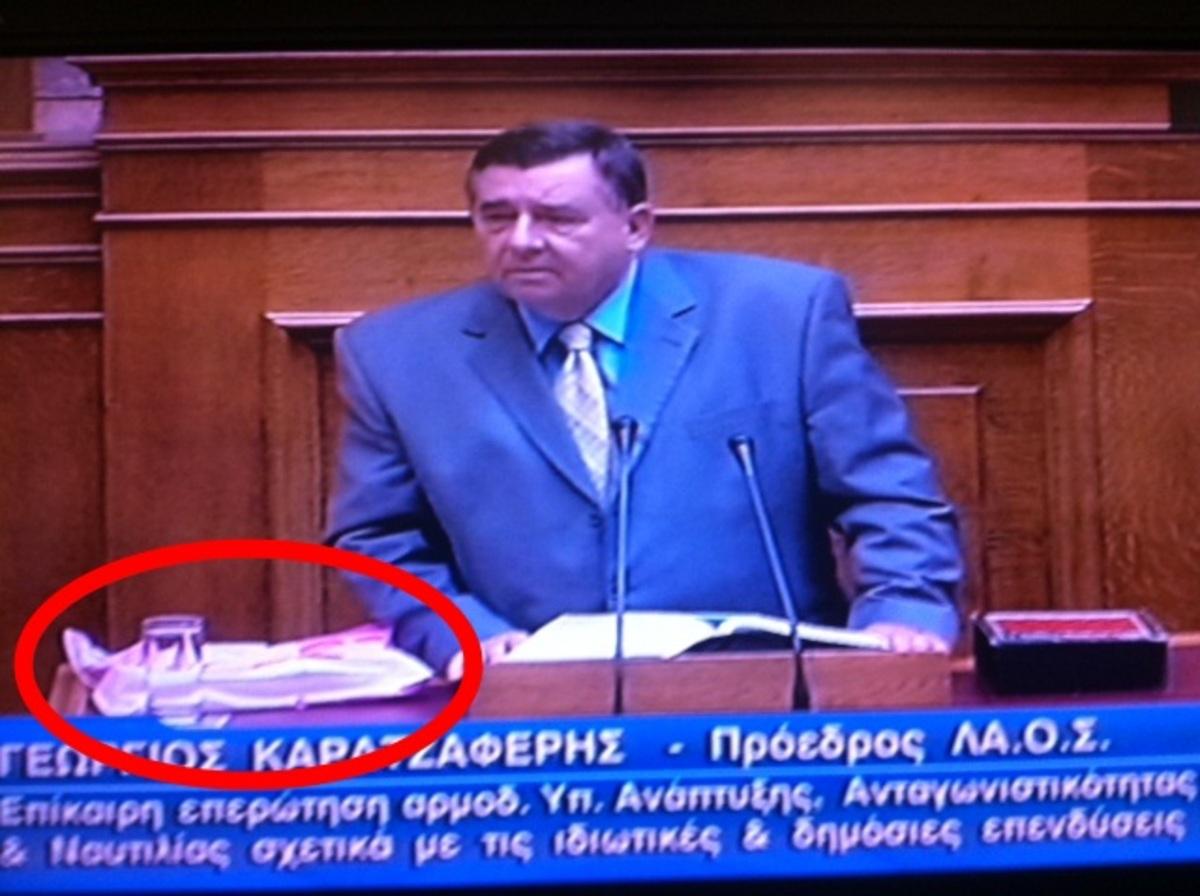 Είναι να τους κλαίνε οι ρέγγες! – Βουλευτές πήγαν να πιαστούν στα χέρια – Η σακούλα μυστήριο του Γ. Καρατζαφέρη | Newsit.gr