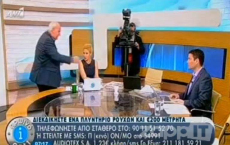 Αναπαράσταση του περιστατικού Κανέλλη-Κασιδιάρη από τον Παπαδάκη – Έξαλλος με μήνυμα τηλεθεατή!   Newsit.gr