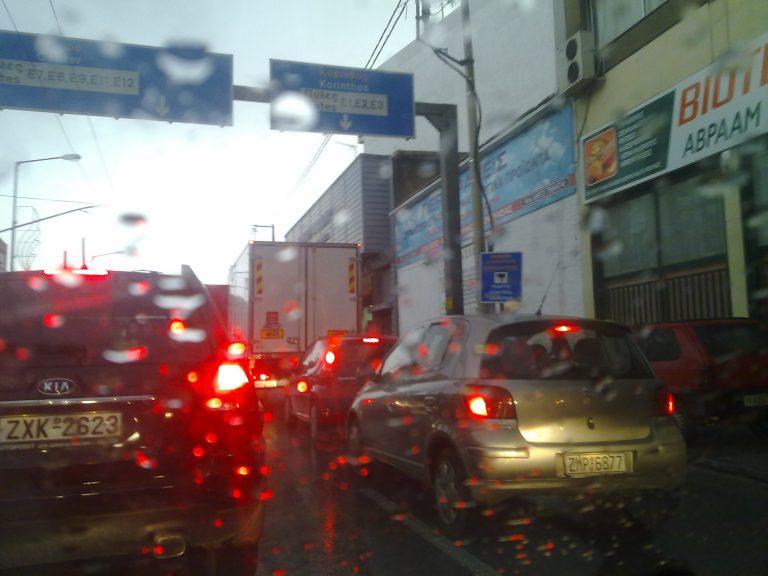 Κυκλοφοριακό κομφούζιο στην Αθήνα λόγω της βροχόπτωσης   Newsit.gr