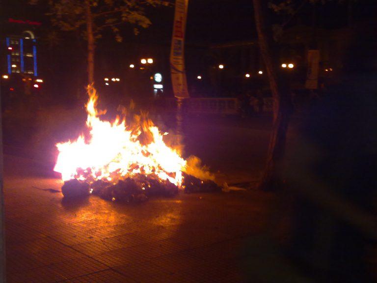 Ενταση στο κέντρο μετά την ειρηνική διαδήλωση | Newsit.gr