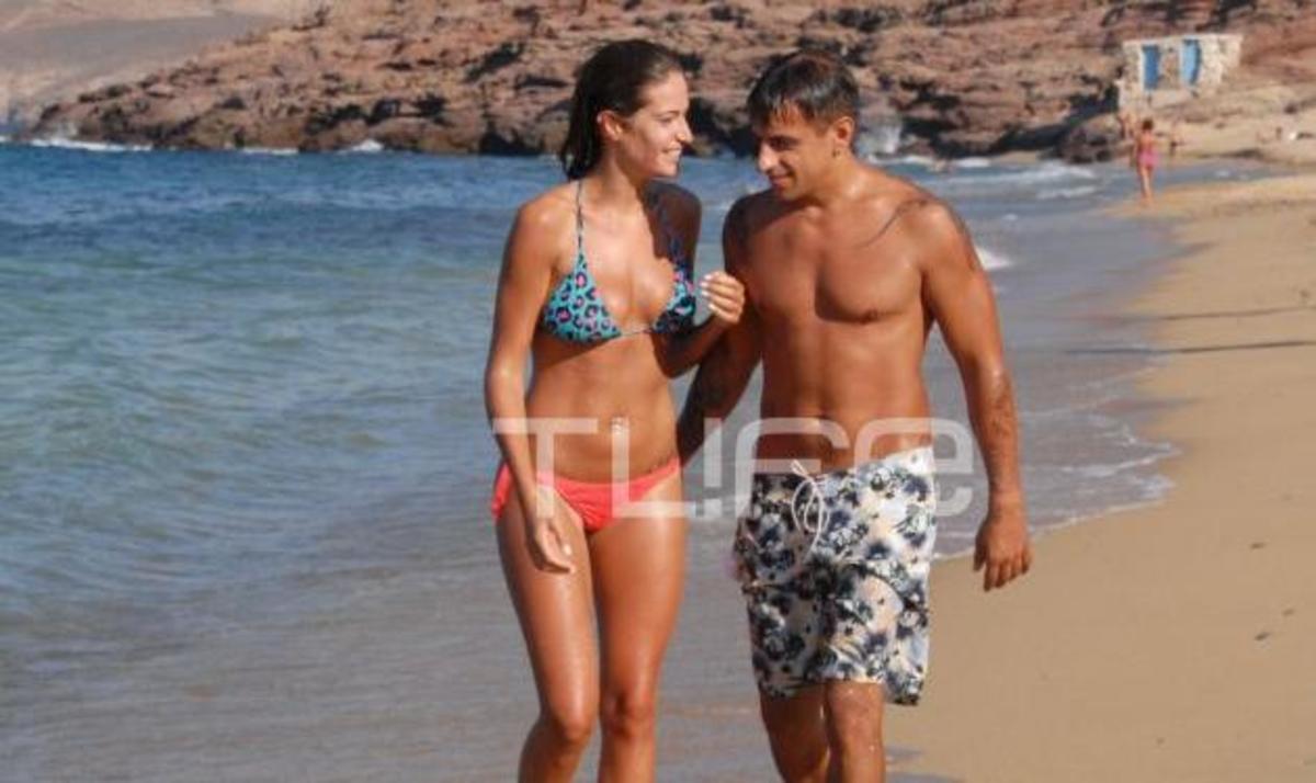 Ε. Λάσκαρη: Παιχνίδια στην παραλία με τον αγαπημένο της λίγες μέρες πριν το γάμο! Φωτογραφίες | Newsit.gr