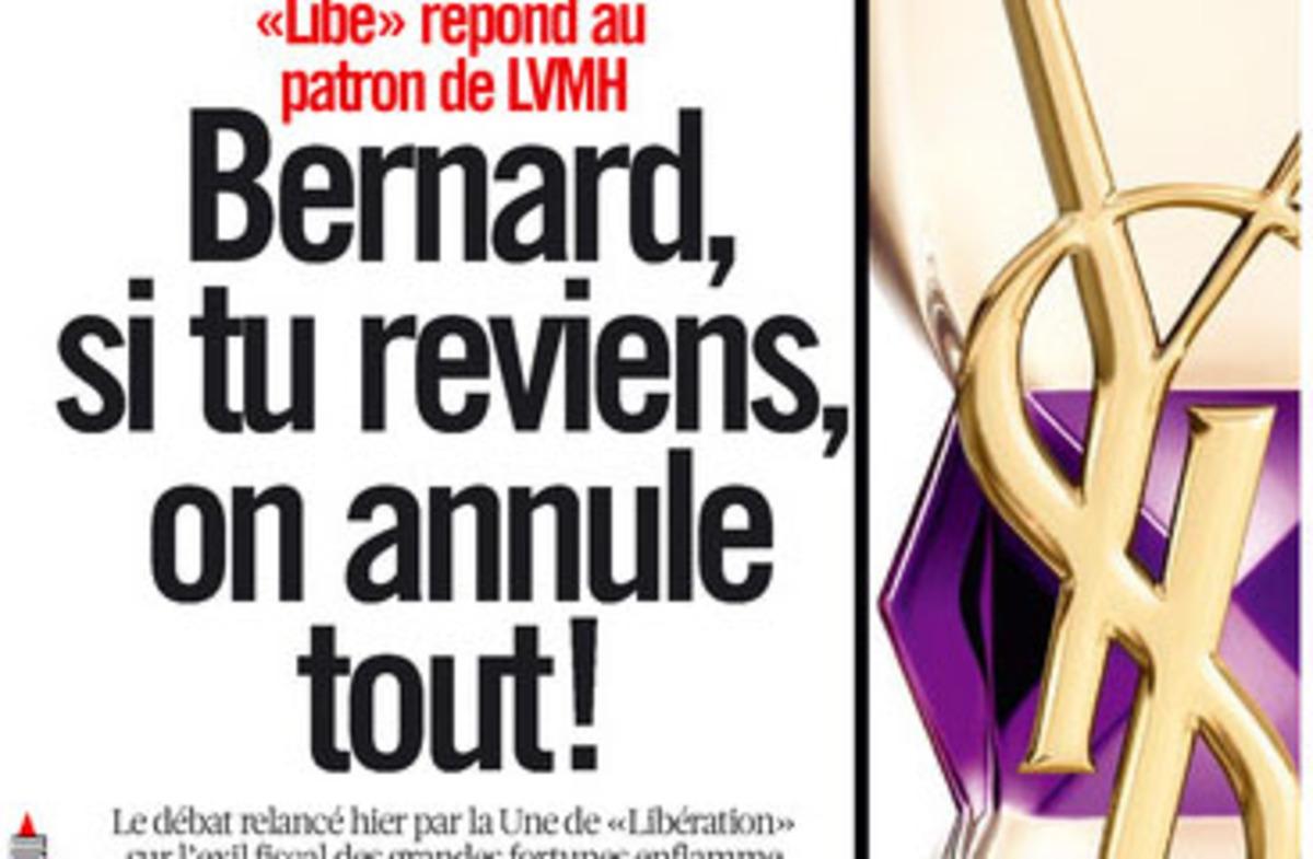 Liberation:»Μπερνάρ, αν γυρίσεις, τα παίρνουμε όλα πίσω» | Newsit.gr