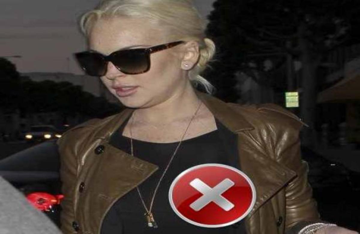 Η μπλούζα πρόδωσε την Lindsay Lohan | Newsit.gr