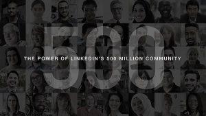 Το Linkedin ξεπερνάει τους 500 εκατομμύρια χρήστες!