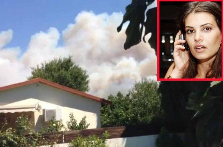 Η Μαρία Κορινθίου στη φωτιά της Κερατέας – ΒΙΝΤΕΟ   Newsit.gr