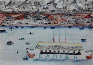 Θεσσαλονίκη: »Ένα καράβι για τους πρόσφυγες» – Δείτε τις ζωγραφιές μαθητών [pics]