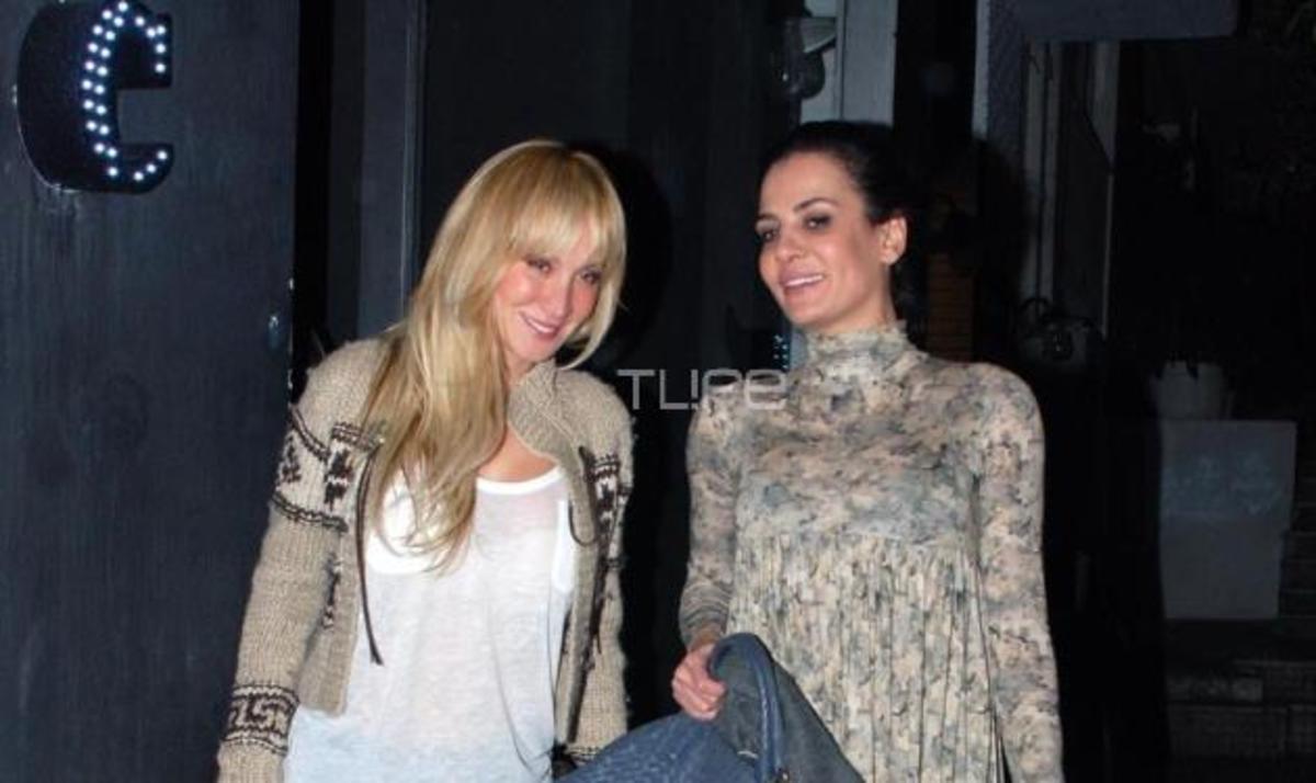 Δ. Ματσούκα: Βραδινή έξοδος με την αδελφή της! Φωτογραφίες | Newsit.gr