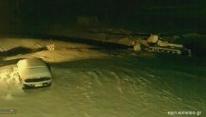 Καιρός: Εικόνα από το παγωμένο Μέτσοβο [vid]