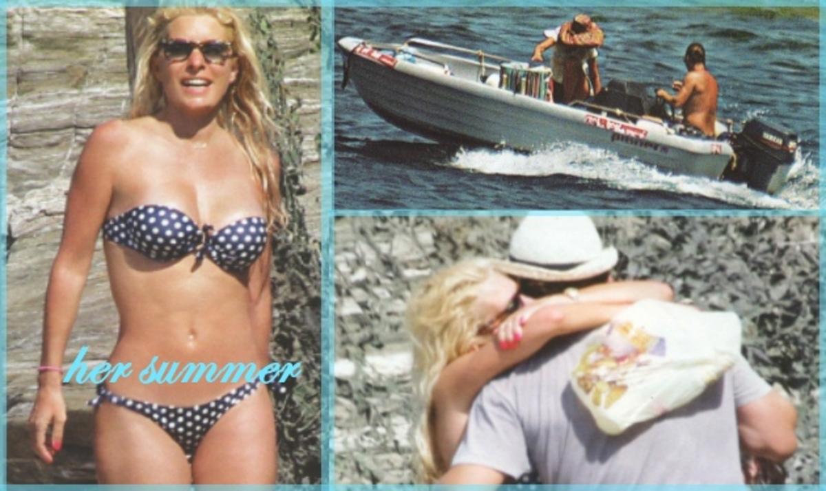 Ε. Μενεγάκη: Διακοπές με τα παιδιά και τον Ματέο στην Άνδρο και βόλτες με το σκάφος! | Newsit.gr