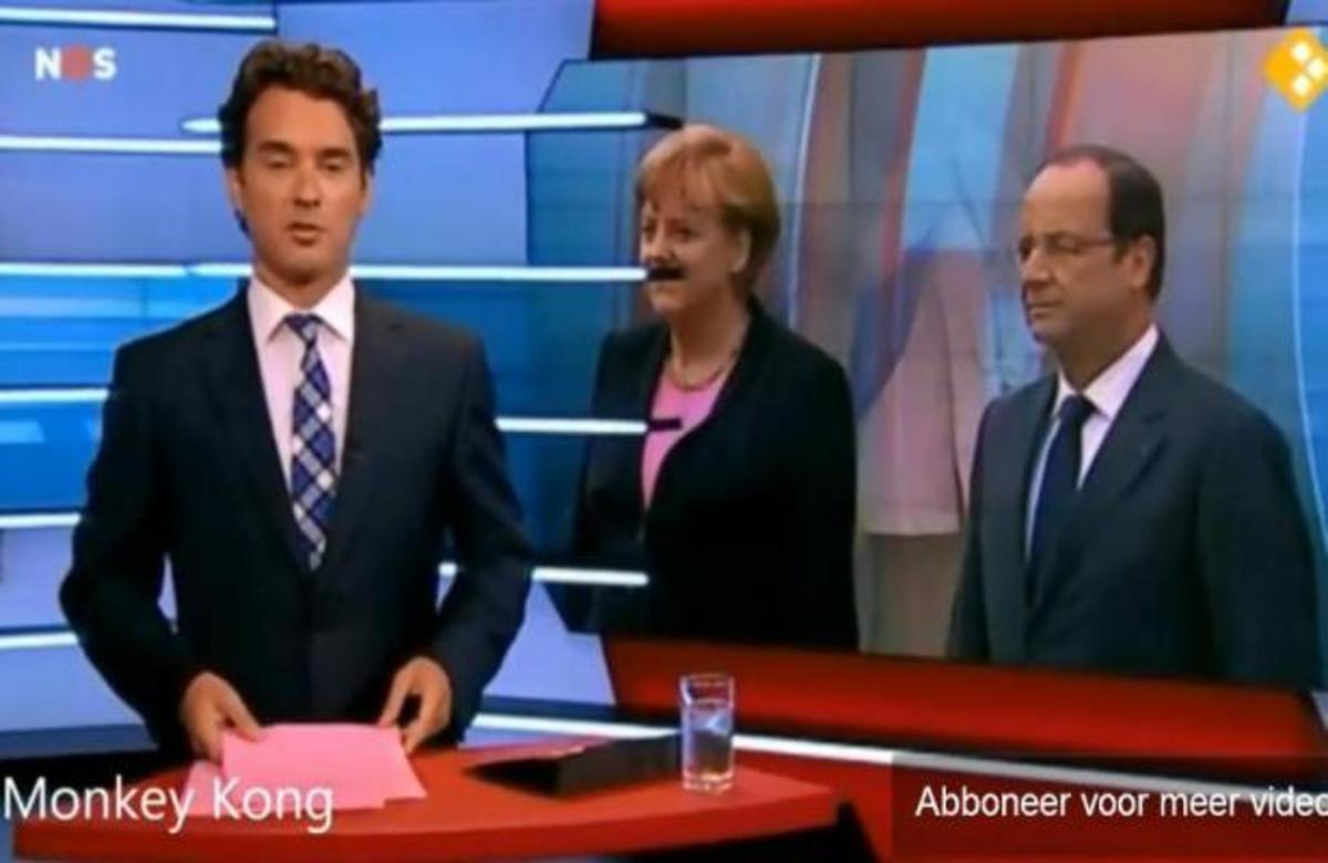 ΑΠΙΣΤΕΥΤΗ ΣΥΜΠΤΩΣΗ! Το σκηνικό των ειδήσεων έκανε Χίτλερ την Μέρκελ   Newsit.gr