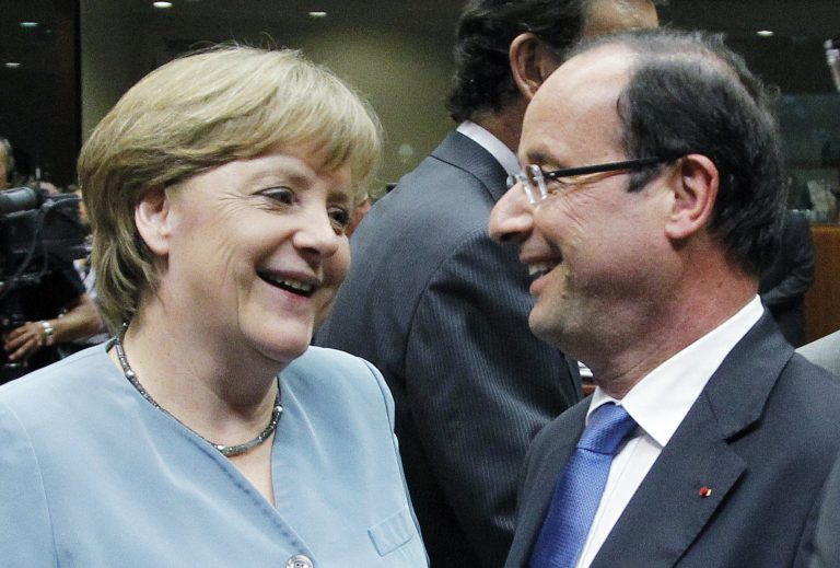 Στο τηλέφωνο Ολάντ-Μέρκελ για την κρίση στην Ισπανία   Newsit.gr