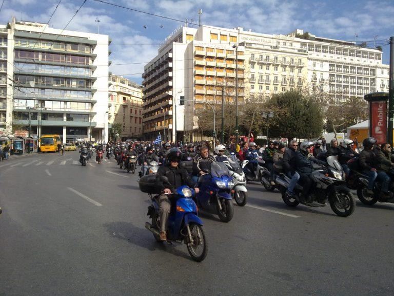 Εγινε και αυτό! Μηχανοκίνητη πορεία εργαζομένων του ΟΑΣΑ στο κέντρο της Αθήνας! | Newsit.gr