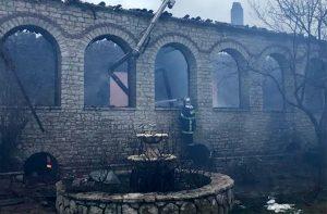 Σε εξέλιξη οι έρευνες για τα αίτια της φωτιάς στην μονή της Βαρνάκοβας