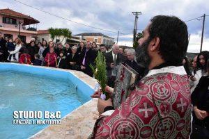 Φώτα: Σε συντριβάνι ο αγιασμός των υδάτων στα Πυργιώτικα Ναυπλίου [pics, vid]