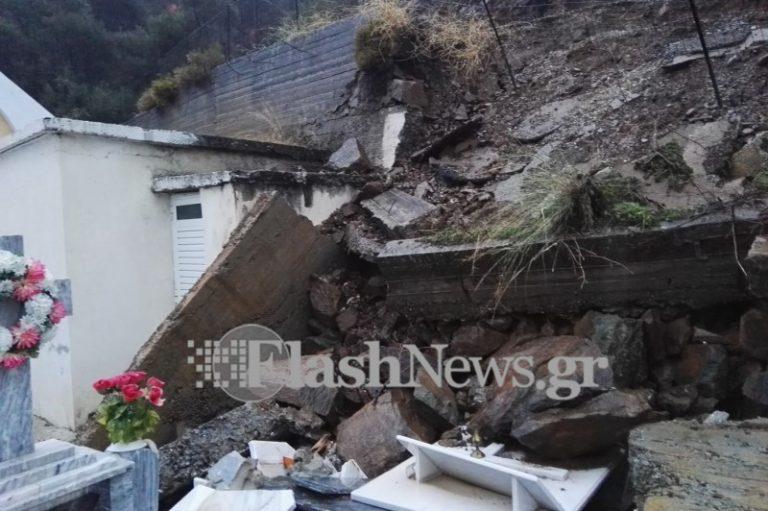 Καιρός: Έσπασαν τάφοι στα Χανιά [pics,vid] | Newsit.gr