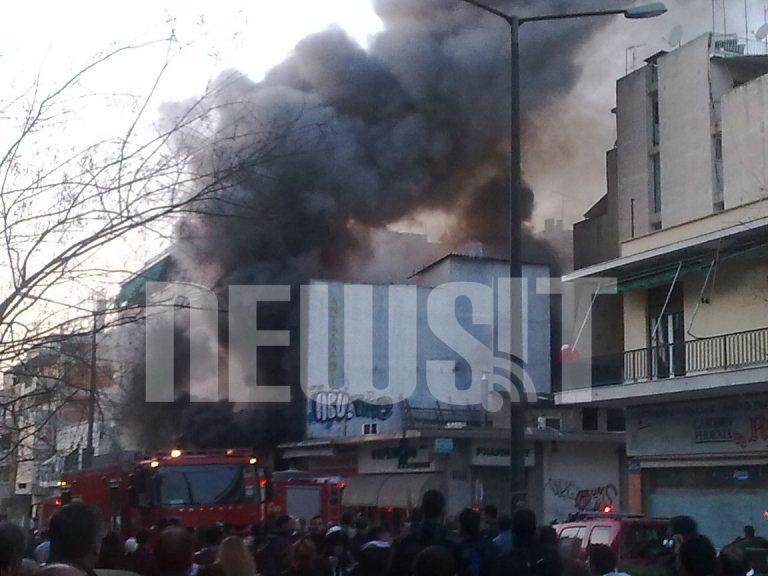 Φωτιά σε μηχανουργείο στο Νέο Κόσμο – Καπνοί «έπνιξαν» την περιοχή | Newsit.gr