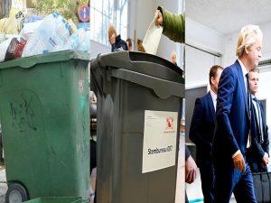 Ολλανδία – Τα περίεργα των εκλογών: Η κάλπη… σκουπιδοντενεκές και οι σωματοφύλακες του Βίλντερς [pics]
