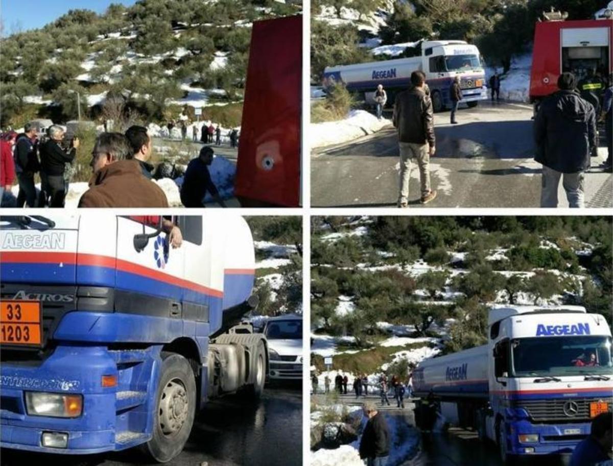 Κρήτη: Ταλαιπωρία οδηγών από νταλίκα που «κόλλησε» στον πάγο [vid]   Newsit.gr