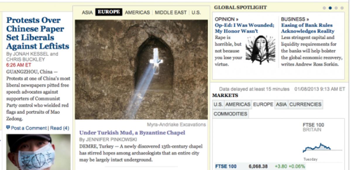 Αποκάλυψη στα μικρασιατικά παράλια! Βυζαντινή εκκλησία στα Μύρα,πρωτοσέλιδο στους NY Times | Newsit.gr