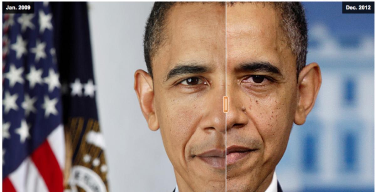 Γέρασε ο Ομπάμα! Φωτογραφίες που δείχνουν πόσο …βαριά είναι η Προεδρία | Newsit.gr