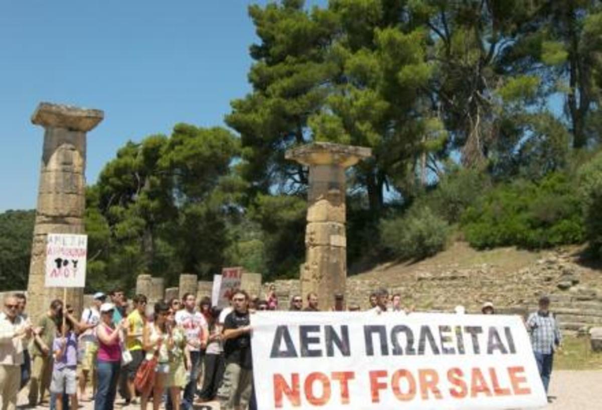 Οι Αγανακτισμένοι της Ηλείας στην Αρχαία Ολυμπία | Newsit.gr