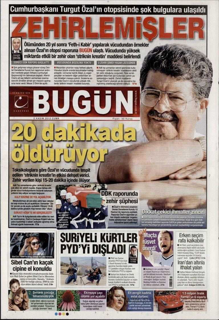 «Δεν βρήκαμε στρυχνίνη στον Οζάλ» αναφέρουν οι ιατροδικαστές | Newsit.gr
