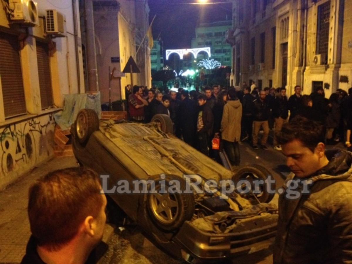 Λαμία: Σύγκρουση και ανατροπή αυτοκινήτου στο κέντρο – Φωτό και βίντεο! | Newsit.gr