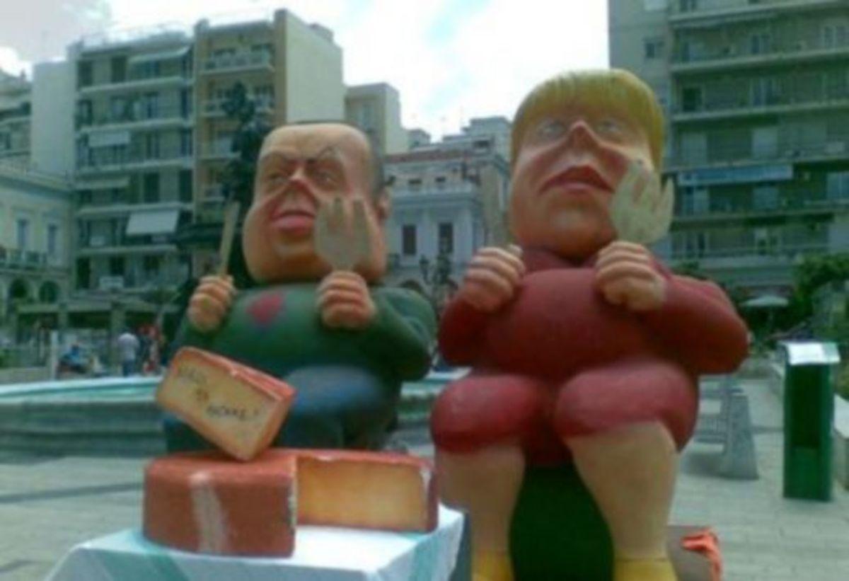 Mε φιγούρες Πάγκαλου και Μέρκελ οι Αγανακτισμένοι της Πάτρας | Newsit.gr