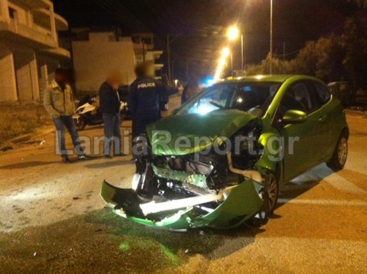 Τροχαίο σε διασταύρωση καρμανιόλα στη Λαμία – Φωτό   Newsit.gr