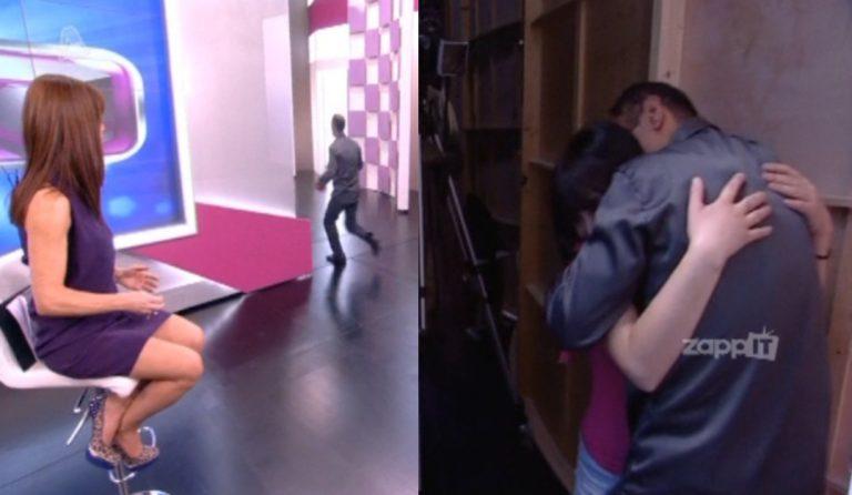 Πάμε Πακέτο: Όρμησε τρέχοντας πίσω από τον τοίχο για να αγκαλιάσει την κόρη του! Αγνόησε τη μητέρα! | Newsit.gr