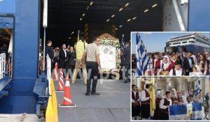 Πάρος: Επέστρεψε η θαυματουργή εικόνα της Παναγίας – Θεία λειτουργία μέσα στο Blue Star Delos [pics, vid]