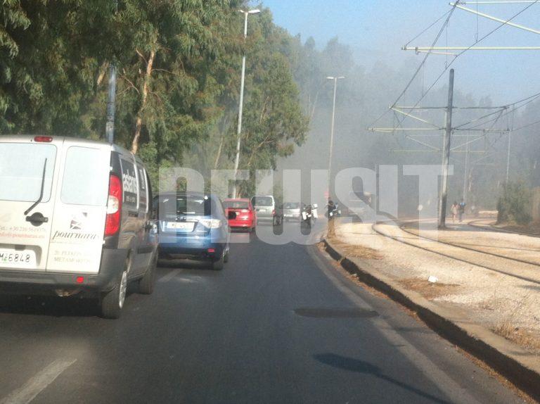 Κανονικά η κυκλοφορία στην Ποσειδώνος μετά τη φωτιά στο Φάληρο   Newsit.gr