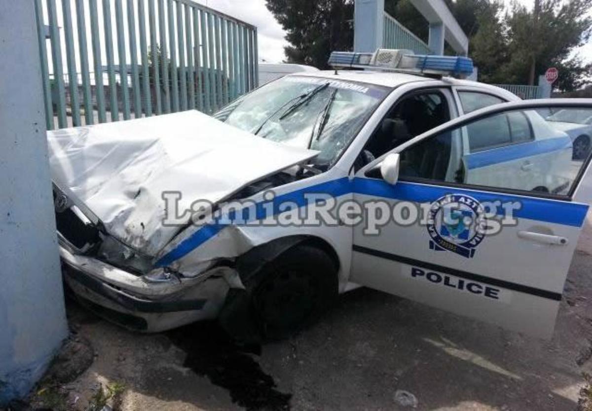 Λαμία: Ο 80χρονος οδηγός δεν είδε το περιπολικό – ΦΩΤΟ   Newsit.gr