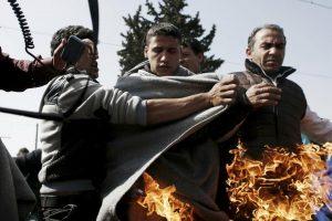 Ειδομένη: Στο νοσοκομείο οι δύο άνθρωποι που προσπάθησαν να αυτοπυρποληθούν