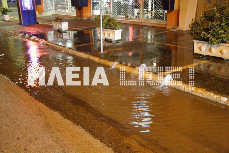Νυχτερινή πλημμύρα στον Πύργο – ΦΩΤΟ   Newsit.gr
