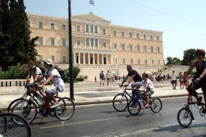 Κοινόχρηστα ποδήλατα στο κέντρο της Αθήνας