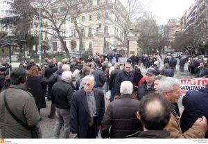 Θεσσαλονίκη: Πορεία συνταξιούχων στο κέντρο της πόλης [pics]