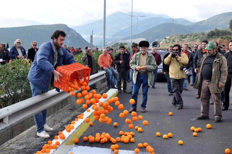 Πορτοκαλοπαραγωγοί έκοψαν την Πελ/νησο στα δύο! | Newsit.gr