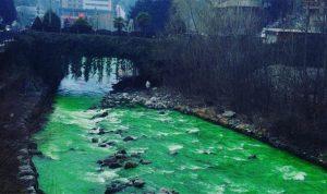 Πανικός στην Ισπανία με ποταμό που έγινε πράσινος! [pics, vid]