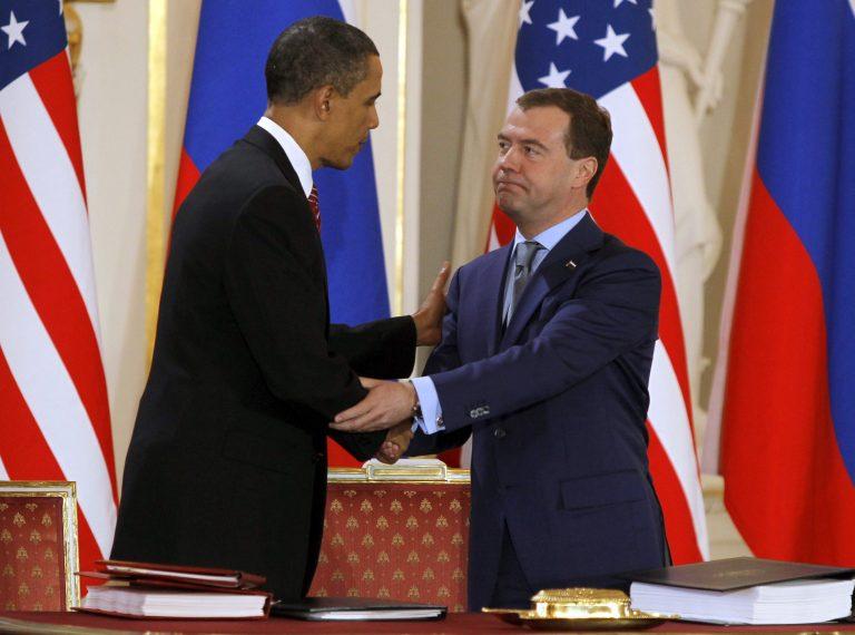 Ομπάμα και Μεντβέντεφ υπέγραψαν ιστορική συμφωνία για τα πυρηνικά | Newsit.gr